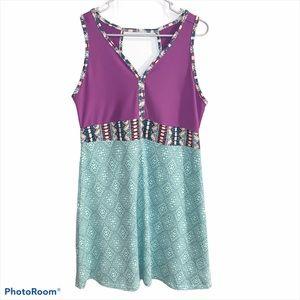 Marmot Becca Sport Dress, XL, Mint/Violet